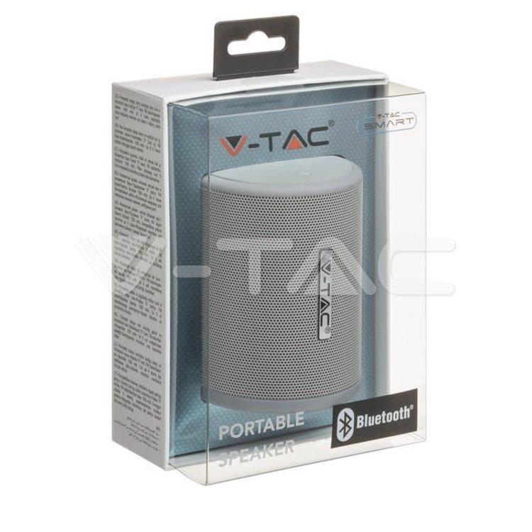 V-Tac V-Tac Portable Bluetooth Speaker Micro USB High End Cable 1500mah Battery Grey