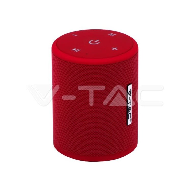 V-Tac V-Tac Portable Bluetooth Speaker Micro USB High End Cable 1500mah Battery Red