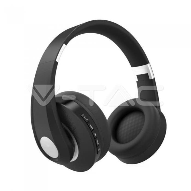 V-Tac V-Tac Bluetooth Wireless Headphone Adjustable Head 500mAh Black