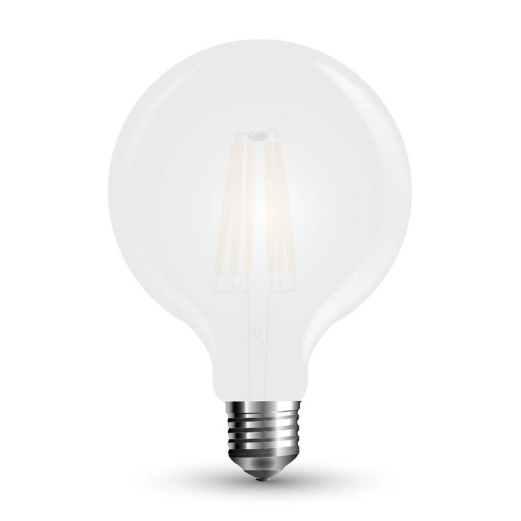 V-Tac V-Tac LED Bulb 7W Filament E27 G95 Frost Cover Cool White