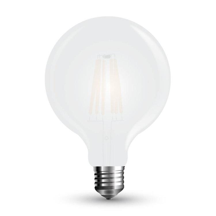 V-Tac V-Tac LED Bulb 7W Filament E27 G95 Frost Cover Warm White