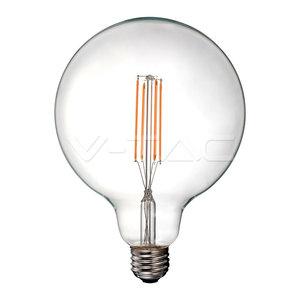 V-Tac V-Tac LED Bulb 12.5W Filament E27 G125 Clear Cover 4000K