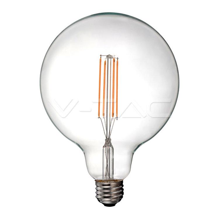 V-Tac V-Tac LED Bulb 12.5W Filament E27 G125 Clear Cover 3000K