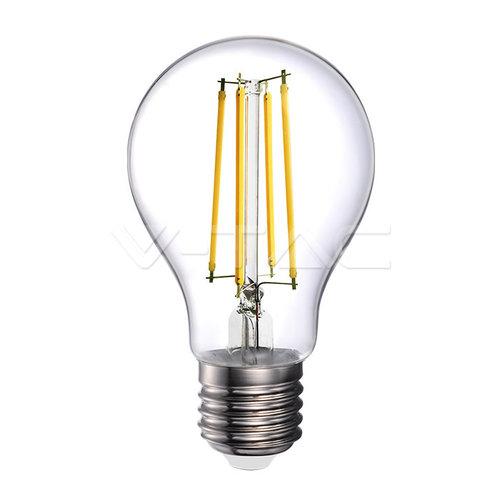 V-Tac V-Tac LED Bulb 12.5W Filament E27 A70 Clear Cover 4000K