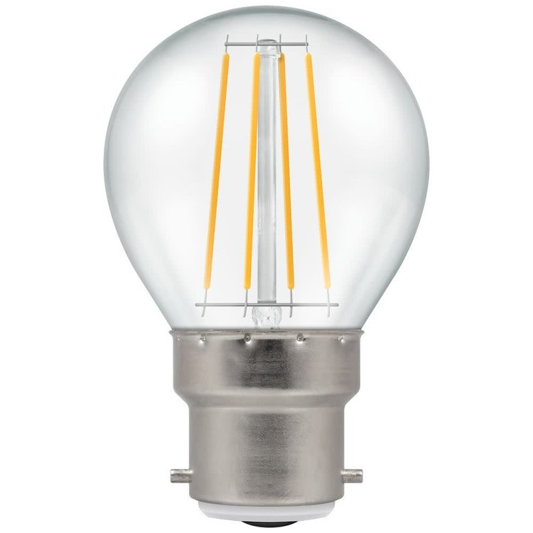 Crompton LED Round Filament Dimmable Clear 5W 2700K BC-B22d