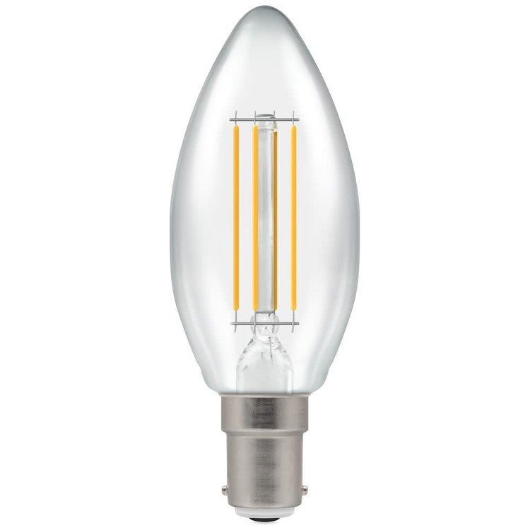 Crompton LED Candle Filament Dimmable Clear 5W 2700K SBC-B15d