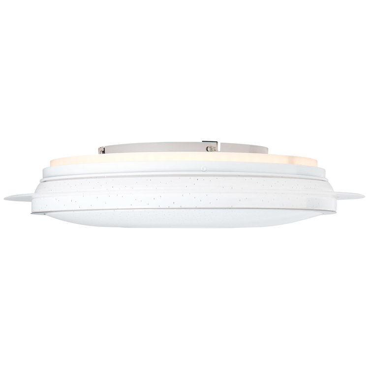Brilliant Viktor LED ceiling Light 45cm white/silver CCT, RGB, Remote Dimmable, RGB Backlight