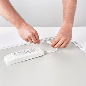 Saxby Sirio 36W Warm White Recessed - Gloss White