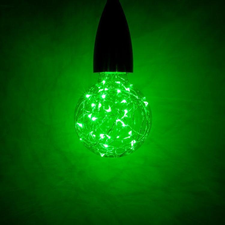 International Lamps Prolite Funky Filament 1.7w Green Star Effect LED Globe Lamp