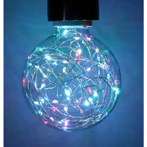 International Lamps Prolite Funky Filament 1.7w RGB Colour Changing Star Effect LED Globe Lamp