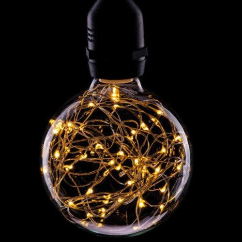International Lamps Prolite Funky Filament 1.7w Warm White Star Effect LED Globe Lamp
