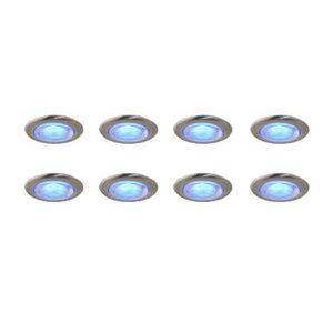 Deck 15mm Blue LED Round 8Pack