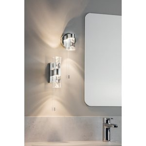 Endon Rocco 1lt wall IP44 2W SW warm white - chrome plate
