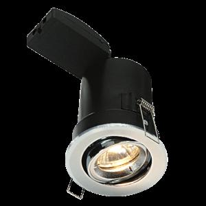 Saxby Shieldplus Mv Tilt 50W Recessed - Chrome Plate