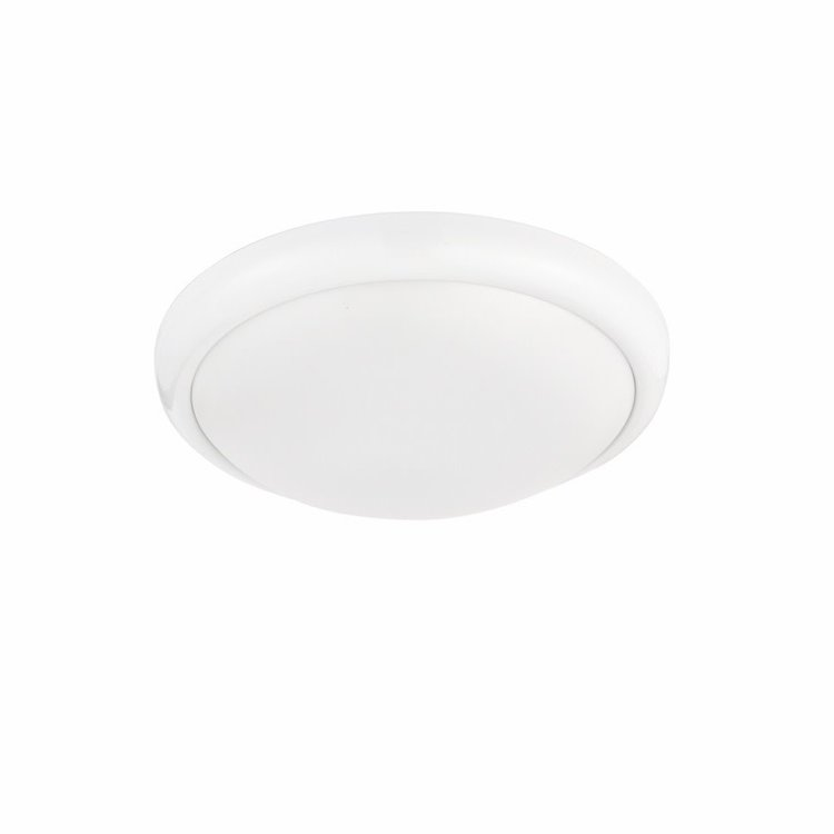 Saxby Montana 330MM Round Flush 15W CCT - Gloss White