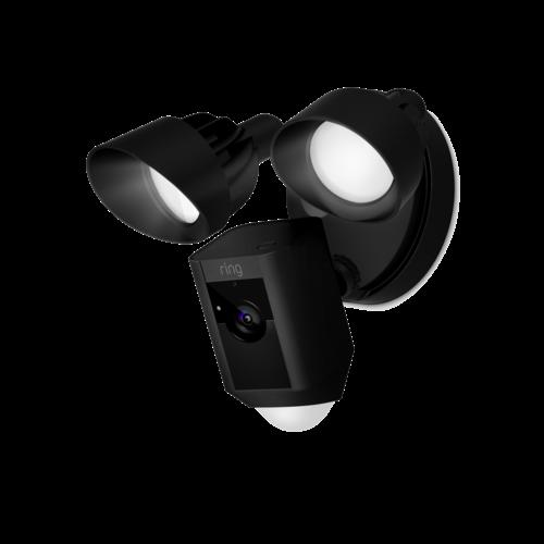 Ring Flood Light Camera with Siren Black