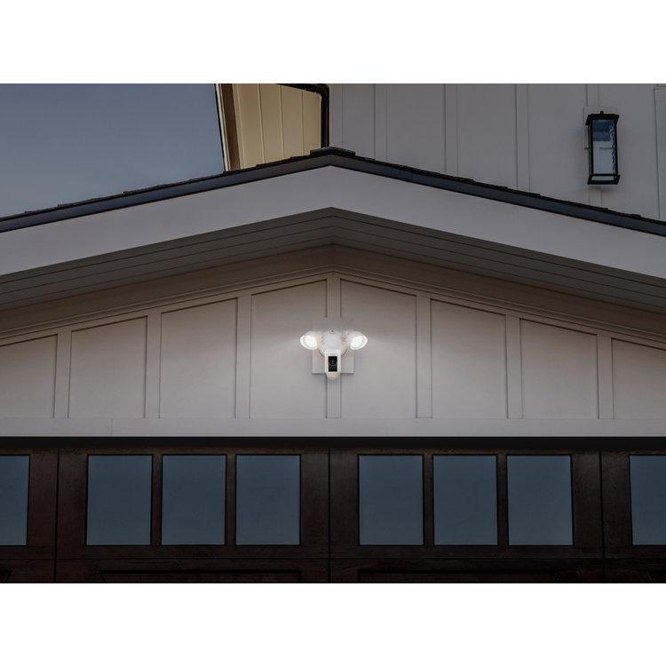 Ring Flood Light Camera with Siren White