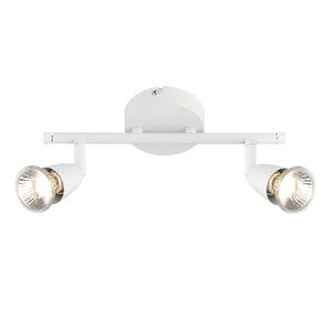 Saxby Amalfi 2LT Bar 50W Spot - Gloss White