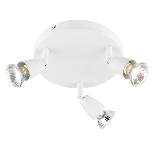Saxby Amalfi 3LT Round 50W Spot - Gloss White
