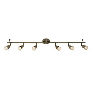 Saxby Amalfi 6LT Bar 50W Spot - Antique Brass