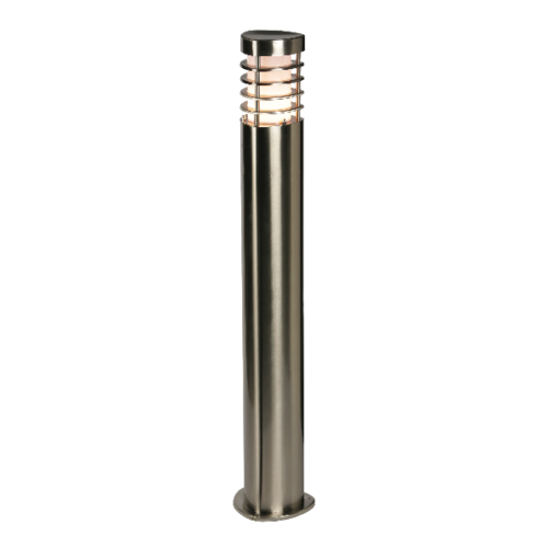 Saxby Bliss Bollard IP44 9.2W Warm White Floor - Brushed Stainless Steel