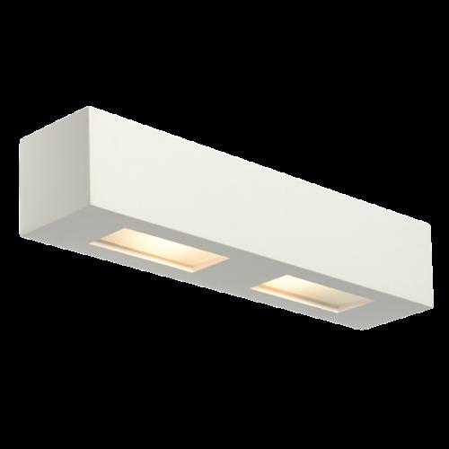 Saxby Box 2LT Wall 28W - White Plaster