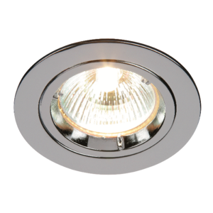 Saxby Cast Fixed 50W Recessed - Chrome Plate