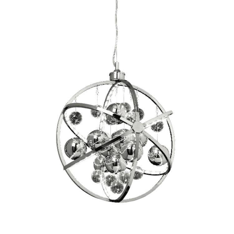 Endon Muni 480mm pendant - chrome