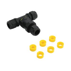 Saxby Inline Ip68 Connector Tee Ip68 Accessory - Black Nylon