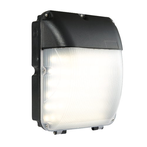 Saxby Lucca Photocell IP44 30W Cool White Wall - Matt Black