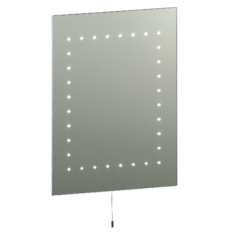 Saxby Mareh Mirror IP44 2.5W SW Wall - Mirrored Glass