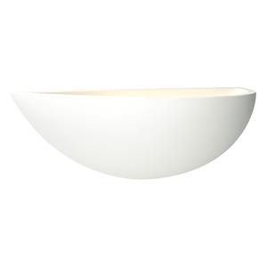 Saxby Mini Crescent 1LT Wall 40W - White Plaster