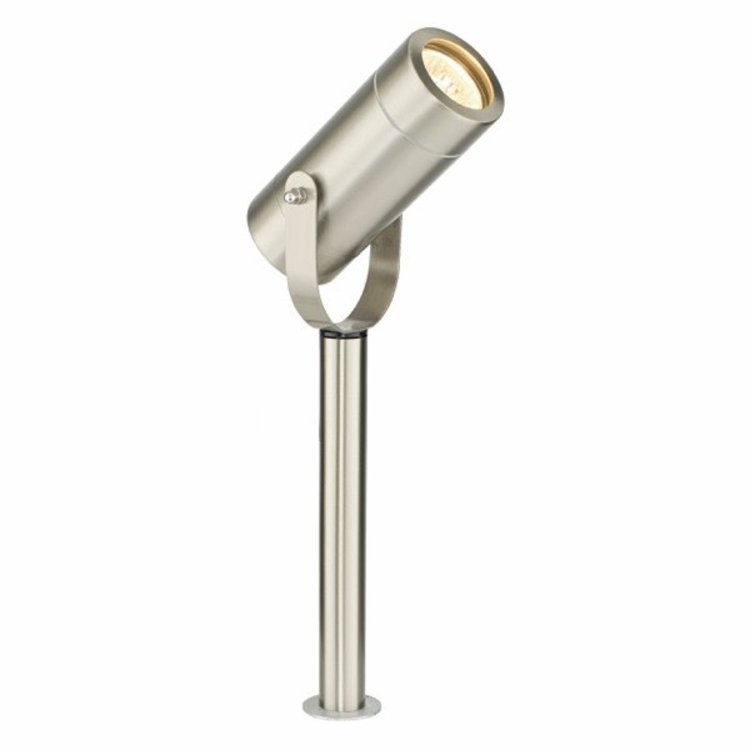 Saxby Palin 310MM Spike IP44 35W Floor - Brushed Stainless Steel