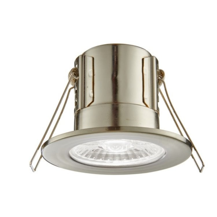 Saxby Shieldeco IP65 4W Cool White Recessed - Satin Nickel