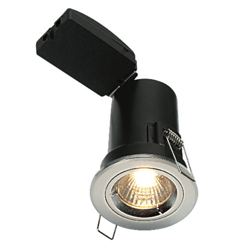 Saxby Shieldplus Mv Fixed 50W Recessed - Chrome Plate