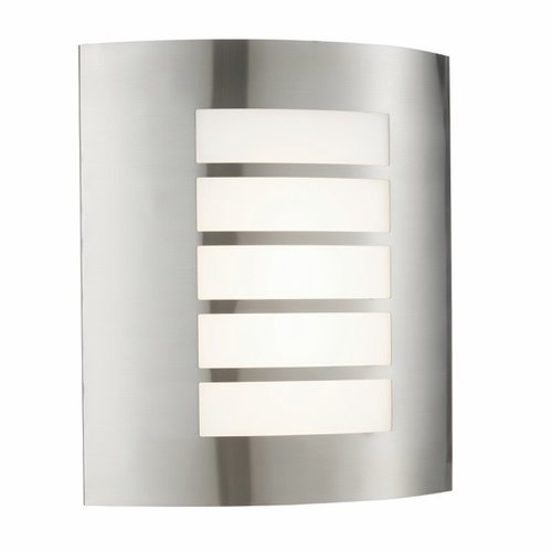 Saxby Bianco LED 1lt wall IP44 7W warm white - brushed stainless steel