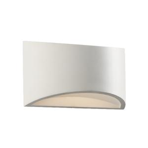 Saxby Toko 1LT 200MM Wall 3W Warm White - White Plaster