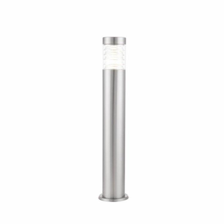 Endon Equinox LED bollard IP44 10W cool white floor - marine grade brushed stainless steel