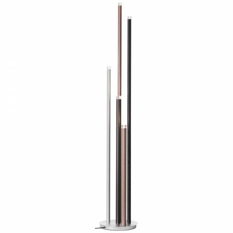 Brilliant CEMBALO Harpsichord LED floor lamp 5-flames aluminum / black / brown