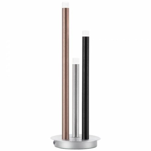 Brilliant Cembalo LED table lamp 3-flames alu/black/brown