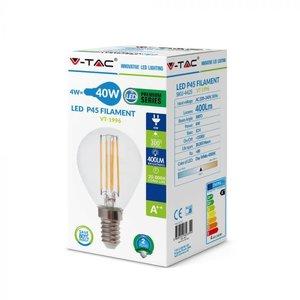 V-Tac V-TAC 4W P45 LED FILAMENT BULB 6400K E14