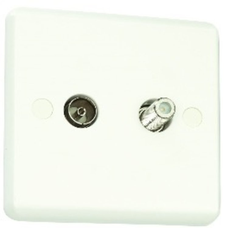 Poole Lighting 2 Gang Sat and C0-axial