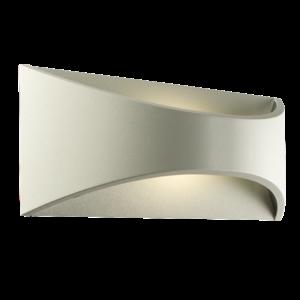 Saxby Vulcan 300mm 1lt wall IP65 12W warm white - textured matt white