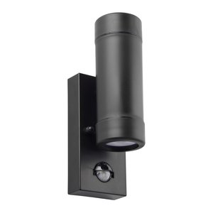 Saxby Icarus PIR 2lt wall IP44 5W - black polypropylene