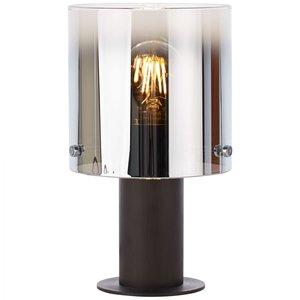 Brilliant Beth E27 Table Lamp coffee/smoked glass