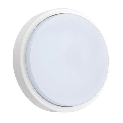 Saxby Rond Microwave 1lt wall IP54 12W Cool white - matt white