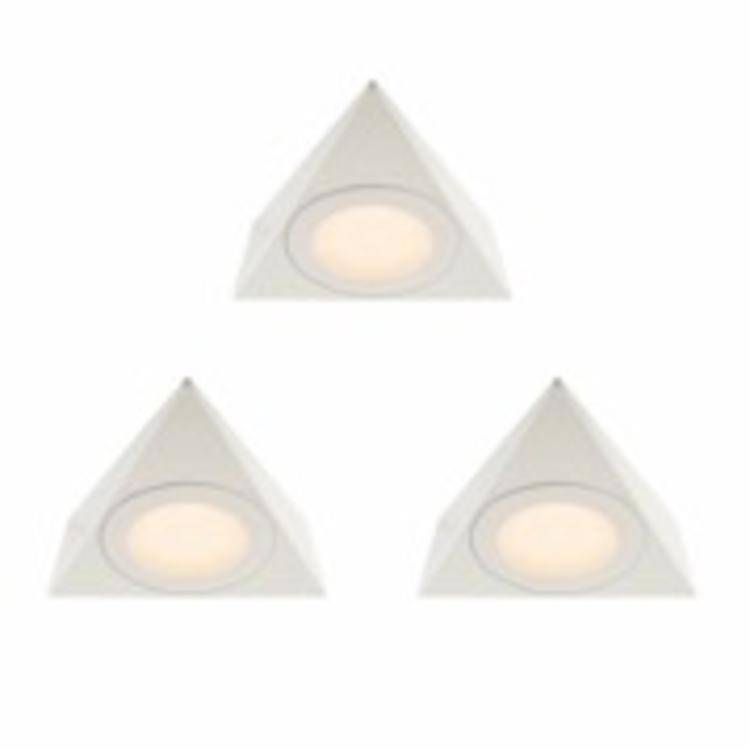 Saxby Nyx Kit 2.5W Warm White Cabinet - Matt White PACK OF 3