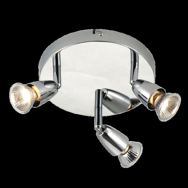 Saxby Amalfi 3LT Round 50w Spot - Chrome Plate