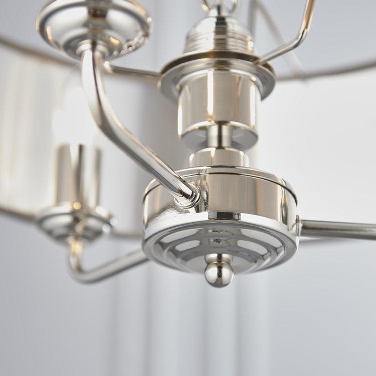 Poole Lighting Sorrento Charcoal 3 Light Pendant Polished Chrome