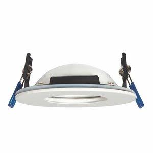 Saxby Orbitalplus IP65 9W Cool White Recessed - Matt White